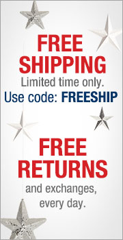 FREE SHIPPING / FREE RETURNS