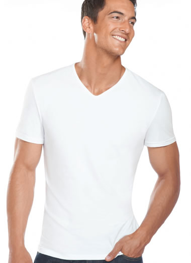 Jockey® Slim Fit Cotton Stretch V-Neck - 2 Pack