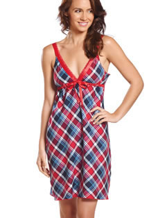 Jockey® Winter Plaid Lounge Chemise