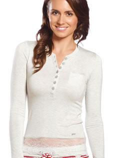 Jockey® Lace Long Sleeve Top