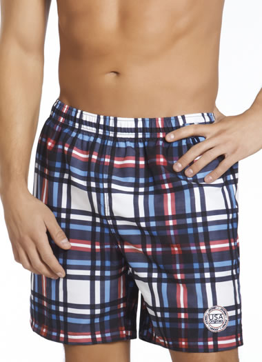 Jockey® Plaid Swim Trunks (1 of 1)