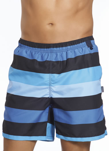 Jockey® Navy Stripe Swim Trunks