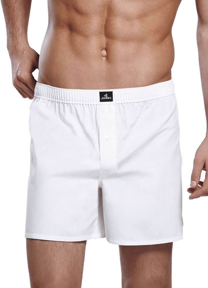 Jockey Mens Woven Boxer Underwear Boxers 100% cotton