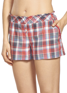 Jockey Sweet Mornings Ruffle Plaid Boxer