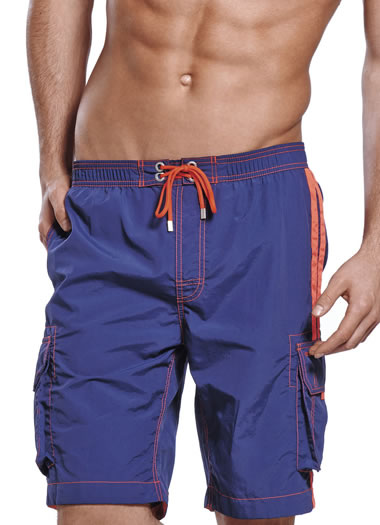 Jockey® Coral Stripes Swim Shorts (1 of 1)