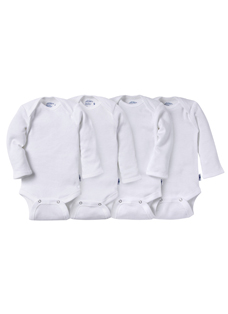 Jockey® Long Sleeve Mitten Cuff Bodysuit - 4 Pack