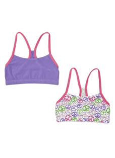 Jockey® Girls Racerback Crop Top - 2 Pack
