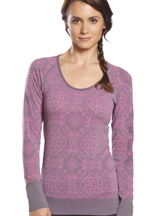 Jockey® Jacquard Seamless Long Sleeve Top