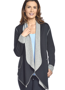 Jockey® Reversible Open Wrap Cardigan