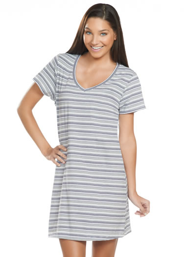 Jockey® Stripe Print V-Neck Sleep Shirt (1 of 1)