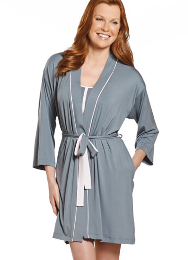 Jockey® Grey Wrap Robe