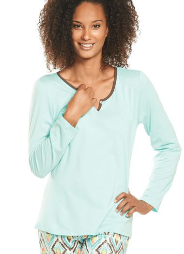 Jockey® Enchanted Forest Long Sleeve Sleep Top (1 of 1)