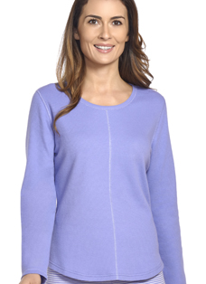 Jockey® Long Sleeve Scoop Neck Waffle