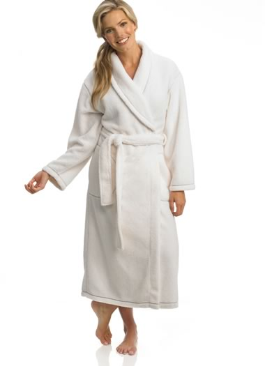 Ivory Fleece Robe (1 of 1)