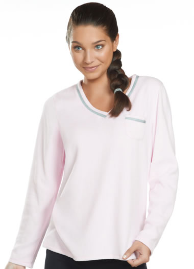 Jockey® V-Neck Fleece Sleep Top