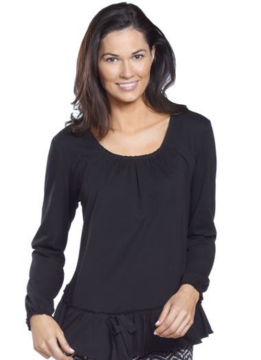 Jockey&amp;amp;reg; Long Sleeve Ruffle Sleep Top (1 of 1)
