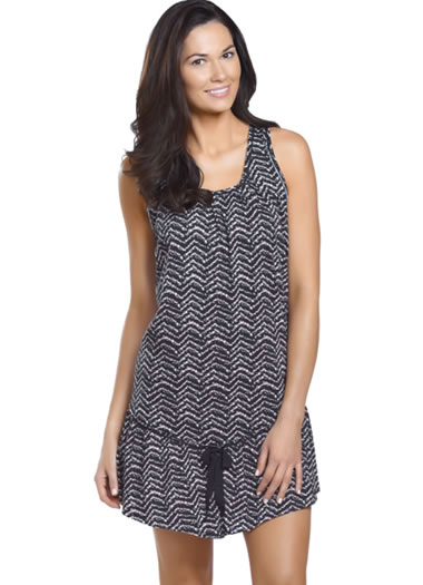 Jockey® Chevron Chic Sleeveless Chemise (1 of 1)