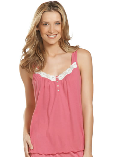Jockey® Lace Ribbed Sleep Tank (1 of 1)