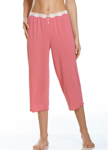 Jockey® Lace Sleep Capri (1 of 1)