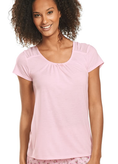 Jockey® Silky Jersey Chiffon Insert Sleep Top  (1 of 1)