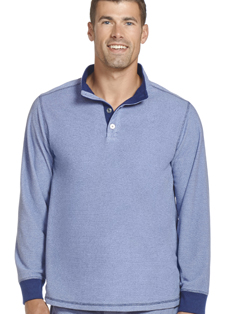 Jockey® Pebble Fleece Quarter Button Henley