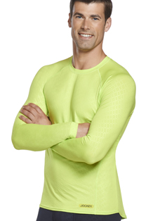 Jockey Sport® Embossed Long Sleeve Crew