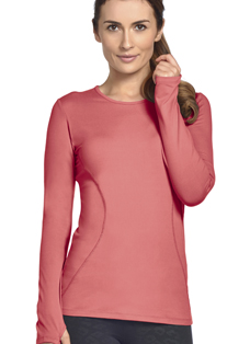 Jockey Contour Seamed Long Sleeve Crew Neck