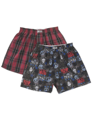 Jockey&amp;amp;reg; Boys Woven Printed Boxer - 2 Pack (1 of 1)