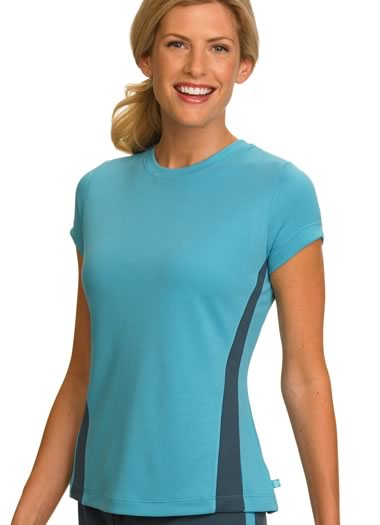 ... about Jockey Womens Colorblocked Mesh Tee Activewear Shirts polyester