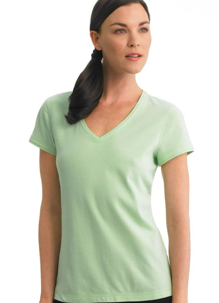 ... -Womens-Sueded-Stretch-Jersey-Tee-Activewear-Shirts-cotton-blends