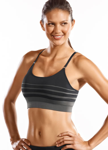 Jockey&amp;amp;reg; Seamless Stripe Cami Bra w/ removable cups (1 of 1)
