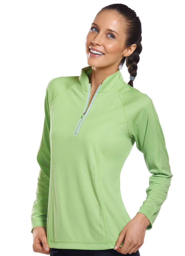 ... about Jockey Womens Active Mesh 1/2 Zip Activewear Jackets polyester