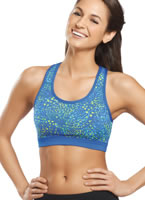 Jockey® Reversible High Impact Paint Splatter Sports Bra