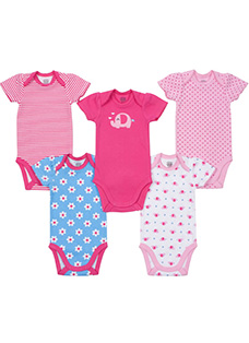 Baby Jockey Bodysuit - 5 Pack