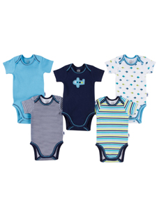 Baby Jockey Boys Bodysuit - 5 Pack