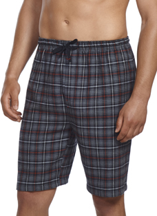 Jockey Plaid Print Flannel Short