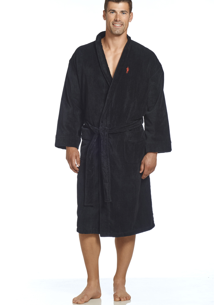jockey mens terry velour robe. Black Bedroom Furniture Sets. Home Design Ideas