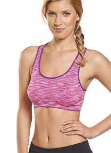 Jockey® Multi-color Space Dye Seamless Sports Bra