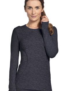 Jockey Embossed Contour Seamed Long Sleeve Crew Neck