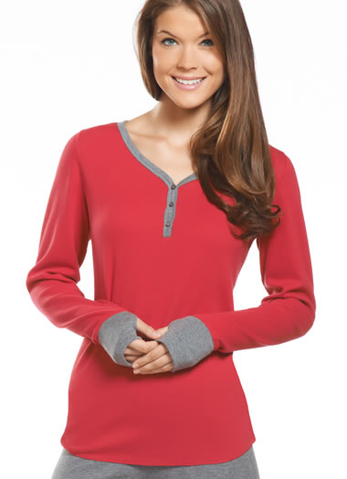 Jockey® Long Sleeve V-Neck Henley (1 of 1)