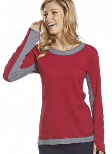 Jockey® Long Sleeve Raglan Crew