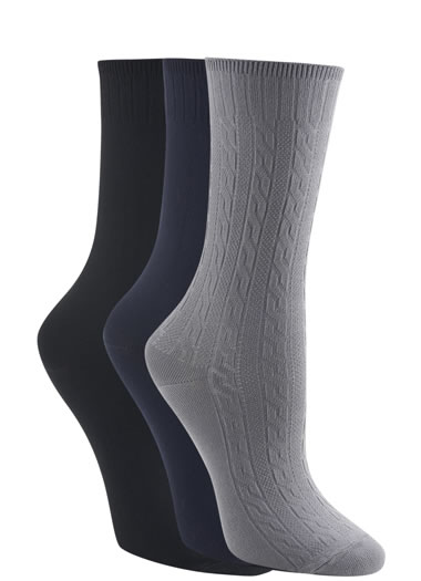 Jockey® Classic Cable Knit Socks - 3 Pack (1 of 1)