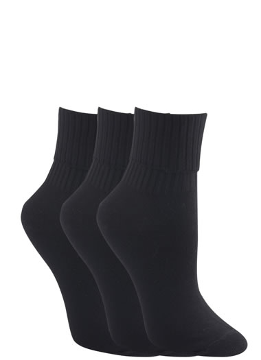 Jockey® Ribbed Turn Cuff Socks - 3 Pack
