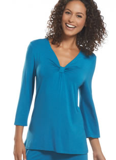 Jockey® Smart Sleep 3/4 Sleeve V-Neck