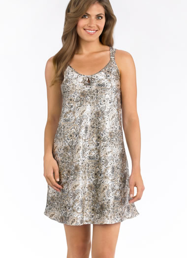 Paisley Nights Satin Chemise (1 of 1)