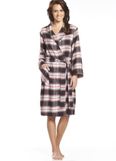 Jockey® Rebecca Plaid Flannel Robe