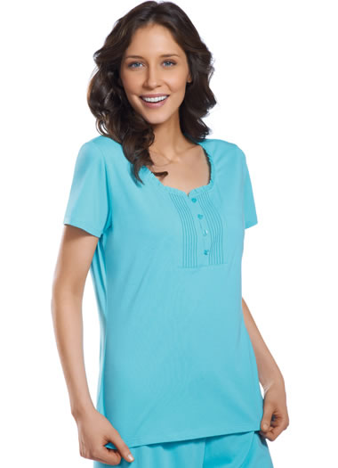 Jockey® Ruffle Trim Henley (1 of 1)