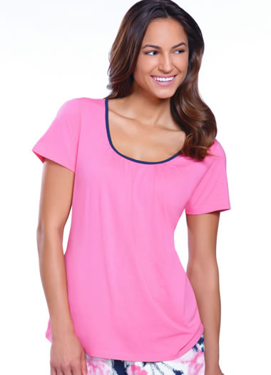 Jockey® Autumn Rose Scoop Neck Sleep Top (1 of 1)