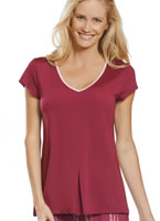 Jockey® Short Sleeve V-Neck Sleep Top