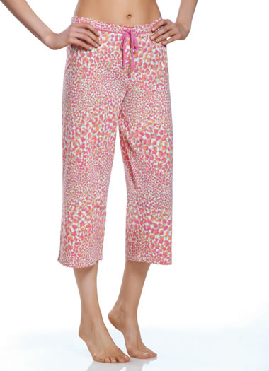 Jockey® Pink Cheetah Sleep Capri (1 of 1)
